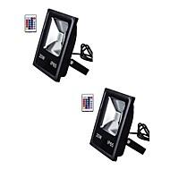 baratos Focos-2pcs 20 W Focos de LED / Luzes do gramado Impermeável / Controlado remotamente / Regulável RGB + Branco 85-265 V Iluminação Externa / Pátio / Jardim 1 Contas LED
