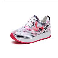 Χαμηλού Κόστους Περπάτημα-Γυναικεία Παπούτσια άνεσης PU Φθινόπωρο Καθημερινό Αθλητικά Παπούτσια Περπάτημα Creepers Στρογγυλή Μύτη Κόκκινο / Μπλε / Συνδυασμός Χρωμάτων