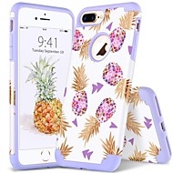 BENTOBEN Case สำหรับ Apple iPhone 8 Plus / iPhone 7 Plus Shockproof / IMD / Pattern ปกหลัง Plants / Lines / Waves / ผลไม้ Soft พีซี / เจลซิลิก้า สำหรับ iPhone 8 Plus / iPhone 7 Plus