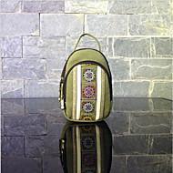 Women's Bags Canvas Mobile Phone Bag Zipper / Flower Green