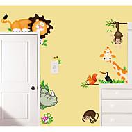 billiga Väggkonst-Dekrativa Väggstickers - Väggstickers Flygplan / Animal Wall Stickers Djur Sovrum / Inomhus