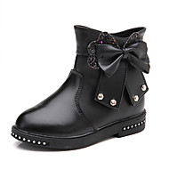 cheap Kids' Boots-Girls' Shoes PU(Polyurethane) Fall & Winter Bootie Boots Walking Shoes for Kids Black / Red / Pink / Booties / Ankle Boots