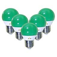 billiga Belysning-EXUP® 5pcs 5 W 450 lm E26 / E27 LED-globlampor G45 12 LED-pärlor SMD 2835 Gulligt / Kreativ / Party Grön 220-240 V / 110-130 V
