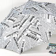 Χαμηλού Κόστους Ομπρέλες/Ομπρέλες ηλίου-Ύφασμα Όλα Sunny και βροχερός Αναδιπλούμενη Ομπρέλα