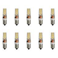 baratos Luzes LED de Dois Pinos-10pçs 3 W 300 lm E14 Luminárias de LED  Duplo-Pin T 28 Contas LED SMD 2835 Branco Quente / Branco 85-265 V