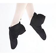 billige Jazz-sko-Dame Jazz-sko Lerret Joggesko Tykk hæl Dansesko Svart