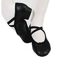 billige Ballettsko-Dame Ballettsko Syntetisk Høye hæler Tykk hæl Dansesko Svart / Rød / Rosa
