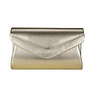 baratos Clutches & Bolsas de Noite-Mulheres Bolsas Poliéster / PU Bolsa de Festa Botões Dourado / Preto / Prata