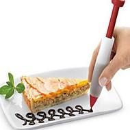 billige Bakeredskap-1pc konditori krem sjokolade dekorere sprøyte silikon plate maling penn kake cookie iskrem dekorere penner