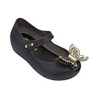 baratos Sapatos de Menina-Para Meninas Sapatos Borracha Primavera Verão Plástico Sandálias Caminhada Laço para Infantil / Bebê Dourado / Preto / Branco / Prata