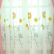 billige Gjennomsiktige gardiner-Gardiner Skygge Soverom Geometrisk Polyester Trykket