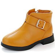 baratos Sapatos de Menina-Para Meninas Sapatos Couro Ecológico Outono & inverno Curta / Ankle Botas para Infantil Amarelo / Rosa claro / Vermelho Escuro / Botas Curtas / Ankle