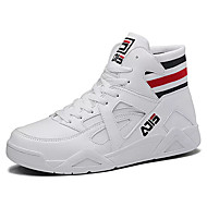 cheap Men's Sneakers-Men's Comfort Shoes Canvas Fall Casual Sneakers Wear Proof White / Black