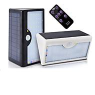 billige Utendørs Lampeskjermer-1pc 10 W Solar Wall Light Fjernstyrt / Solar / Motion Detection Monitor Hvit 3.2 V Utendørsbelysning
