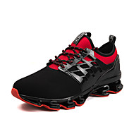 cheap -Men's Comfort Shoes Elastic Fabric Spring Sporty Athletic Shoes Running Shoes Breathable Black / Black / Red / Black / Green