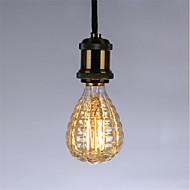baratos Incandescente-1pç 40 W E26 / E27 G95 Branco Quente 2300 k Retro / Regulável / Decorativa Incandescente Vintage Edison Light Bulb 220-240 V