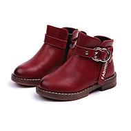 baratos Sapatos de Menino-Para Meninos Sapatos Couro Ecológico Primavera & Outono / Primavera Verão Conforto / Coturnos Botas Caminhada Presilha / Ziper para Infantil Preto / Vinho / Botas Curtas / Ankle