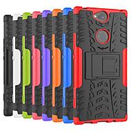 billiga Mobil cases & Skärmskydd-fodral Till Sony Xperia XA2 Ultra / Xperia XZ2 Premium Stötsäker / med stativ Skal Tegel / Rustning Hårt PC för Sony XA2 Plus / Xperia XZ2 / Xperia XZ2 Compact