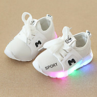 tanie Obuwie chłopięce-Dla chłopców / Dla dziewczynek Obuwie Siateczka Wiosna i jesień Wygoda / Świecące buty Adidasy Sznurowane / LED na Dzieci / Brzdąc Czarny / Czerwony / Różowy