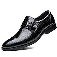 baratos Sapatos de Tamanho Pequeno-Homens Sapatos formais Pele Primavera Negócio Mocassins e Slip-Ons Preto