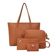 povoljno Komplet torbi-Žene Torbe PU Bag Setovi 4 kom Patent-zatvarač Blushing Pink / Svjetlo siva / Braon