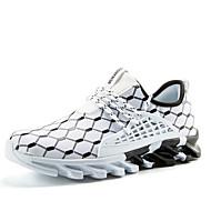 Hombre Zapatos Confort Punto Primavera & Otoño Deportivo Zapatillas de Atletismo Running Transpirable Negro / Negro / blanco / Anaranjado y Negro