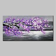 billiga Landskapsmålningar-Hang målad oljemålning HANDMÅLAD - Landskap / Blommig / Botanisk Moderna Utan innerram / Valsad duk