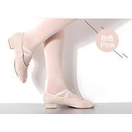 billige Ballettsko-Dame Ballettsko Lerret Flate / Joggesko Flat hæl Dansesko Svart / Rød / Rosa
