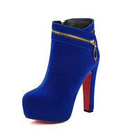 cheap -Women's Bootie Suede Fall Heels Stiletto Heel Pointed Toe Booties / Ankle Boots Satin Flower Black / Red / Blue / Daily