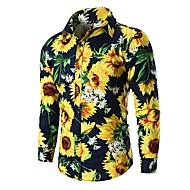 Herre - Blomstret Basale Skjorte
