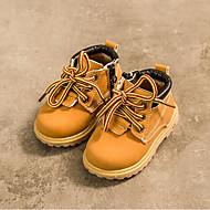 baratos Sapatos de Menino-Para Meninos Sapatos Sintéticos Primavera & Outono Curta / Ankle Botas Cadarço para Bébé Marron / Botas Curtas / Ankle