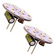 billige Bi-pin lamper med LED-2w led pære g4 bi-pin slank rund lys for rv lysekrone komfyr hjemmebelysning 180lm dc / ac 12v varm / kald hvit (2 stk)
