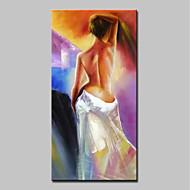 billiga Människomålningar-Hang målad oljemålning HANDMÅLAD - Människor / Nude Klassisk / Moderna Duk