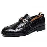 Męskie Komfortowe buty PU Jesień Casual Mokasyny i buty wsuwane Antypoślizgowe Czarny / Brązowy
