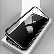 Pouzdro Uyumluluk Apple iPhone X / iPhone 8 / iPhone 8 Plus Şoka Dayanıklı / Şeffaf / Manyetik Tam Kaplama Kılıf Solid Sert Temperli Cam / Metal için iPhone X / iPhone 8 Plus / iPhone 8