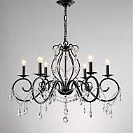 billige Takbelysning og vifter-JLYLITE 6-Light Candle-stil Lysekroner Omgivelseslys Malte Finishes Metall Stearinlys Stil 110-120V / 220-240V Pære ikke Inkludert / E12 / E14