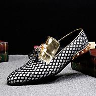 baratos Sapatos Masculinos-Homens Sapatos formais Pele Napa Outono Formais Mocassins e Slip-Ons Use prova Dourado / Preto / Prata / Festas & Noite