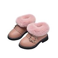 baratos Sapatos de Menina-Para Meninas Sapatos Couro Ecológico Inverno / Outono & inverno Botas da Moda Botas Caminhada Presilha para Infantil Preto / Vermelho / Rosa claro / Botas Curtas / Ankle
