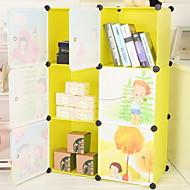 billige Lagring og oppbevaring-Plast Rektangulær Nytt Design / Smuk Hjem Organisasjon, 2pcs Lagrings-skap