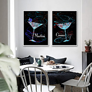 baratos Quadros com Moldura-Quadros Emoldurados / Conjunto Emoldurado - Abstrato / Vida Imóvel Plástico Ilustração