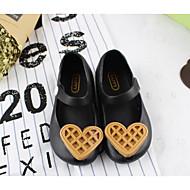 baratos Sapatos de Menina-Para Meninas Sapatos PVC Verão Conforto Rasos Botão para Bebê / Bébé Preto / Azul / Rosa Claro