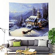 billige Veggdekor-Jul Veggdekor 100% Polyester Klassisk / Tradisjonell Veggkunst, Veggtepper Dekorasjon
