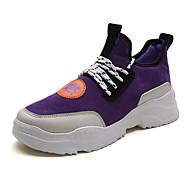 baratos Sapatos Masculinos-Homens Sapatos Confortáveis Camurça Outono & inverno Casual Tênis Preto / Bege / Roxo