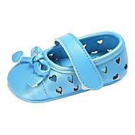 baratos Sapatos de Menino-Para Meninos / Para Meninas Sapatos Couro Ecológico Primavera & Outono / Verão Conforto / Primeiros Passos Rasos Laço / Vazados / Velcro para Bebê Prata / Azul / Rosa claro