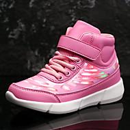 baratos Sapatos de Menina-Para Meninas Sapatos Pêlo Sintético Inverno Tênis com LED Tênis Colchete / LED para Infantil Branco / Preto / Rosa claro