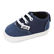 baratos Sapatos de Menino-Para Meninos / Para Meninas Sapatos Lona Primavera & Outono / Inverno Conforto / Primeiros Passos Rasos Cadarço para Bebê Azul / Rosa claro / Khaki