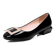 baratos Sapatos Femininos-Mulheres Stiletto Couro Envernizado Primavera Saltos Salto Robusto Preto / Vermelho