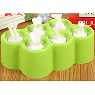 billige Bakeredskap-Bakeware verktøy Plast / silica Gel Kreativ Kjøkken Gadget For Iskrem Rektangulær 1pc