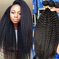 3 csomag Brazil haj yaki 8A Emberi haj Az emberi haj sző Bundle Hair Egy Pack Solution 8-28 hüvelyk Természetes szín Emberi haj sző Sexy Lady Legjobb minőség Hot eladó Human Hair Extensions Női