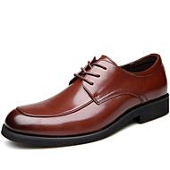 baratos Sapatos Masculinos-Homens Sapatos de couro Pele Outono Negócio / Formais Oxfords Manter Quente Preto / Marron